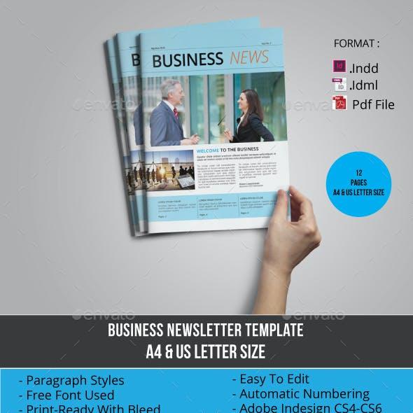 Multipurpose Business Newsletter Template