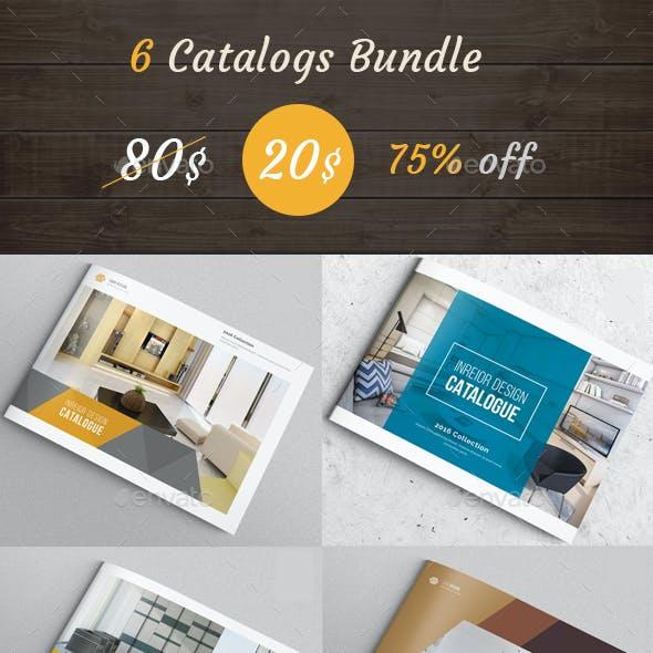 6 Indesign Catalogs Bundle