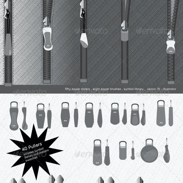 Zipper Brushes, Sliders and Pullers - Tech Pack