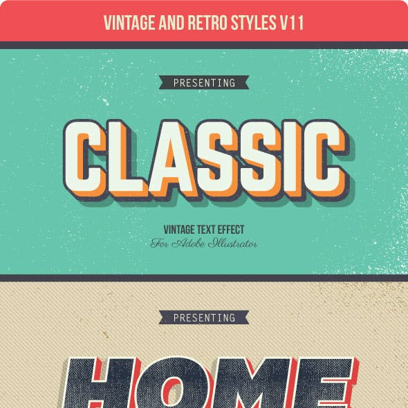Vintage and Retro Styles V11