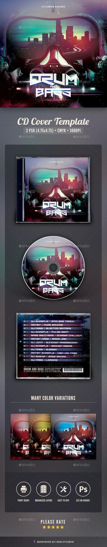 Drum and Bass CD Cover Artwork - CD & DVD Artwork Print Templates