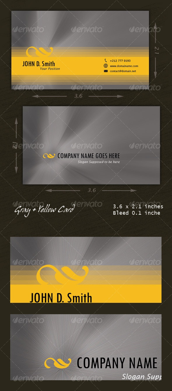 Gray and Yellow Card - Creative Business Cards