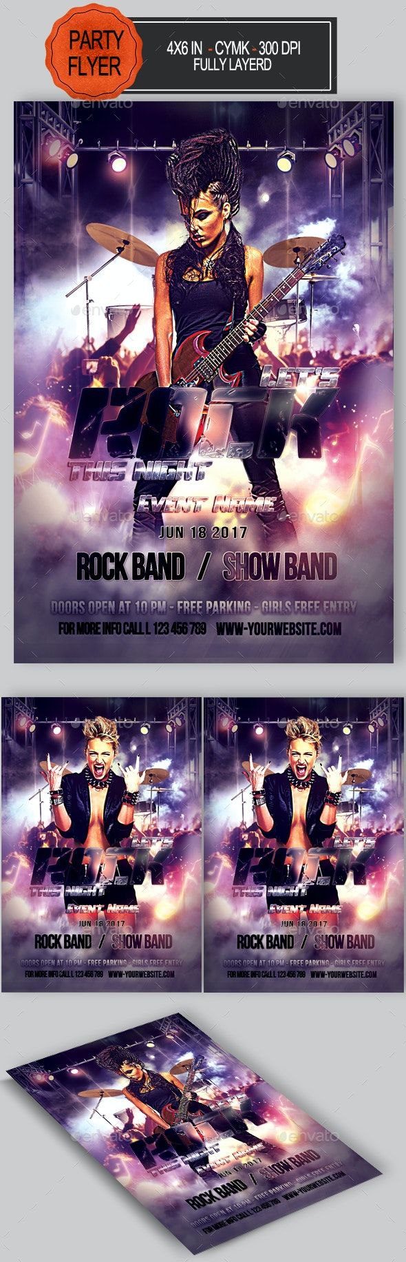 Rock Flyer - Concerts Events