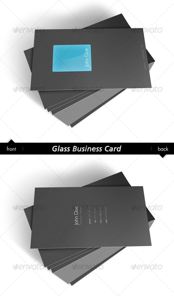 Glass Business Card - Corporate Business Cards
