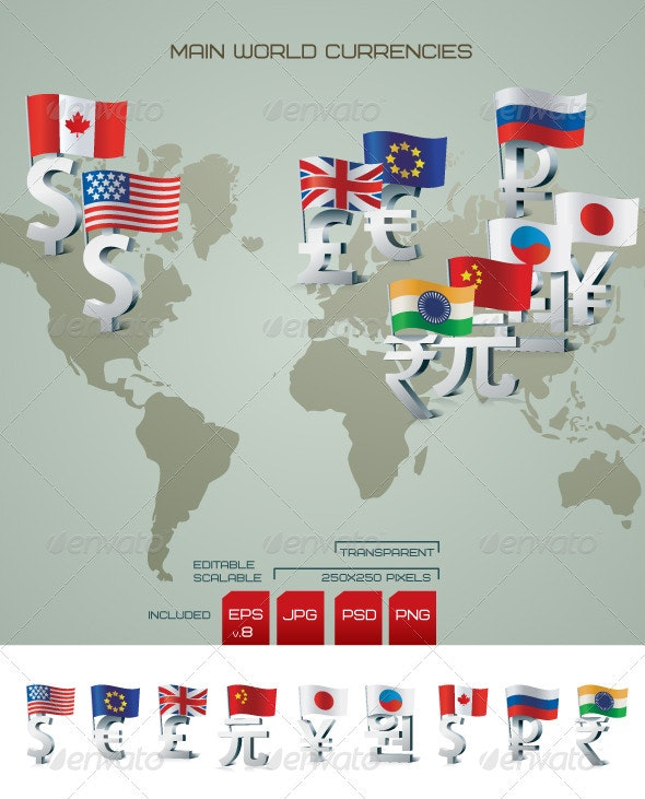 World currencies - Business Conceptual