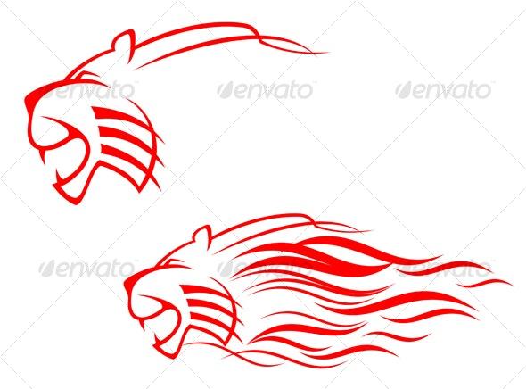 Tiger sign - Tattoos Vectors