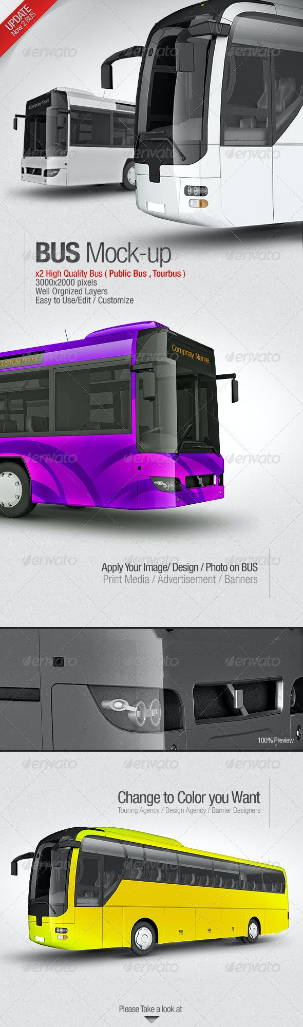 Bus Mockup - Vehicle Wraps Print