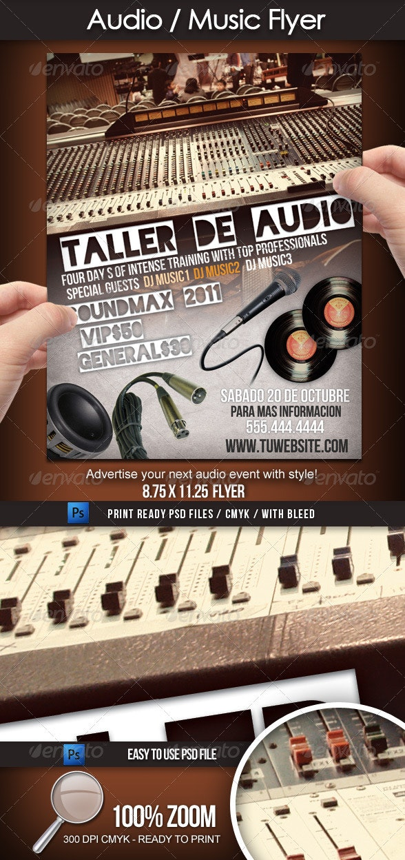 Audio/Sound/Music Flyer - Clubs & Parties Events