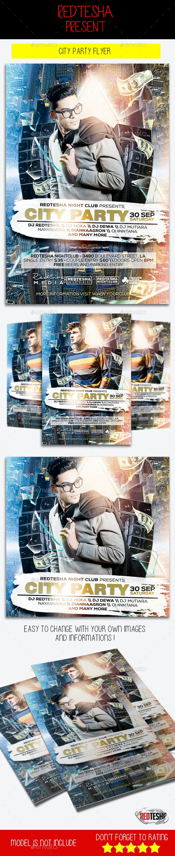 City Party Flyer - Clubs & Parties Events