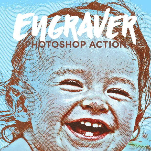 Engraver - Drawing Photoshop Action