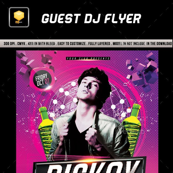 Guest DJ Flyer Template.