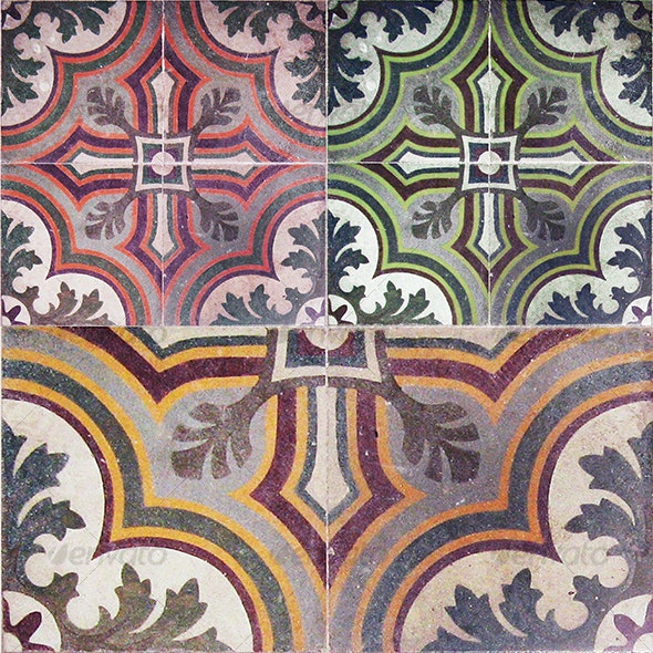 Ancient Colored Floor Tiles By Yio Graphicriver