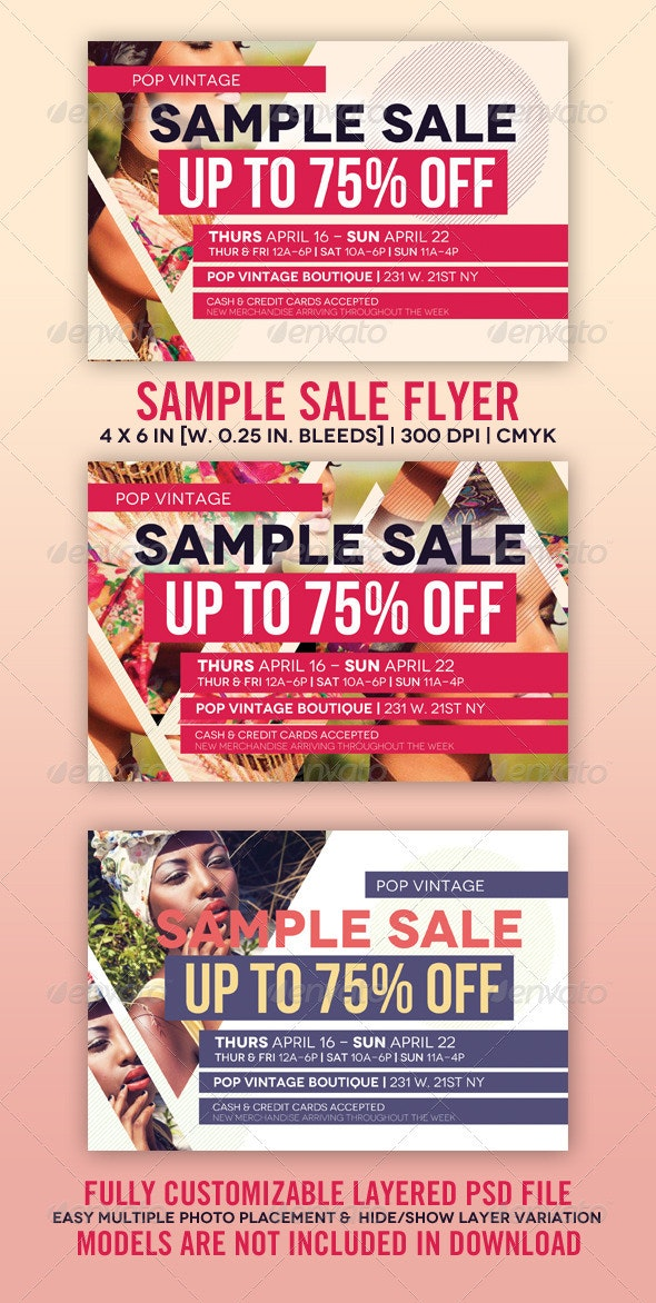 Sample Sale Flyer  - Clubs & Parties Events