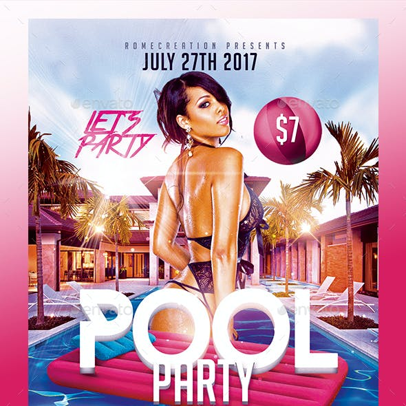 Summer Pool Party | Psd Flyer Template