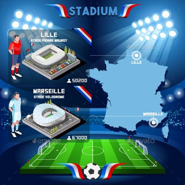 Lille Stadium Pierre Mauroy, Marseille Stadium Velodrome France