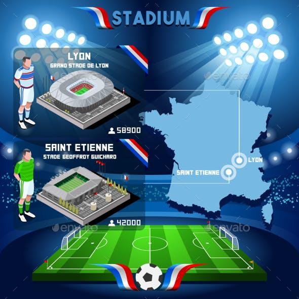 Lyon Grande Stade St Etienne Soccer Stadium