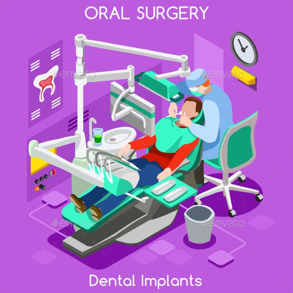 Dental Implant Teeth Hygiene and Whitening Oral Surgery