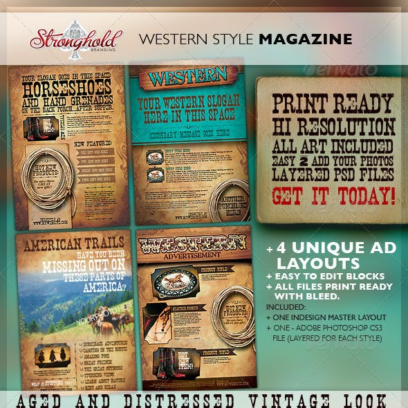 Western Graphics, Designs & Templates from GraphicRiver