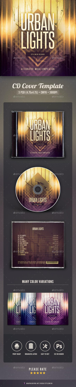 Urban Lights CD Cover Artwork - CD & DVD Artwork Print Templates