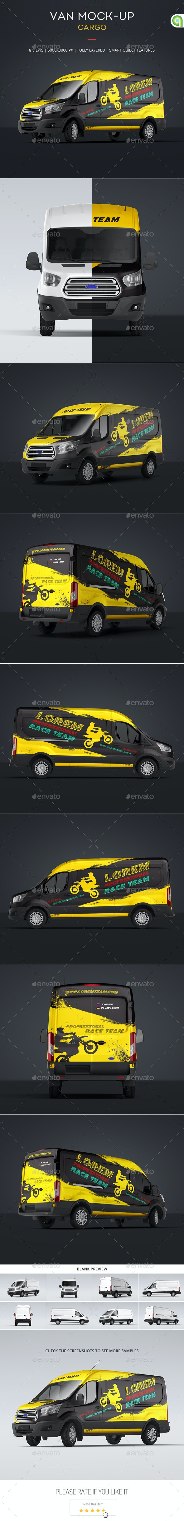 Cargo Van Mock-Up - Vehicle Wraps Print