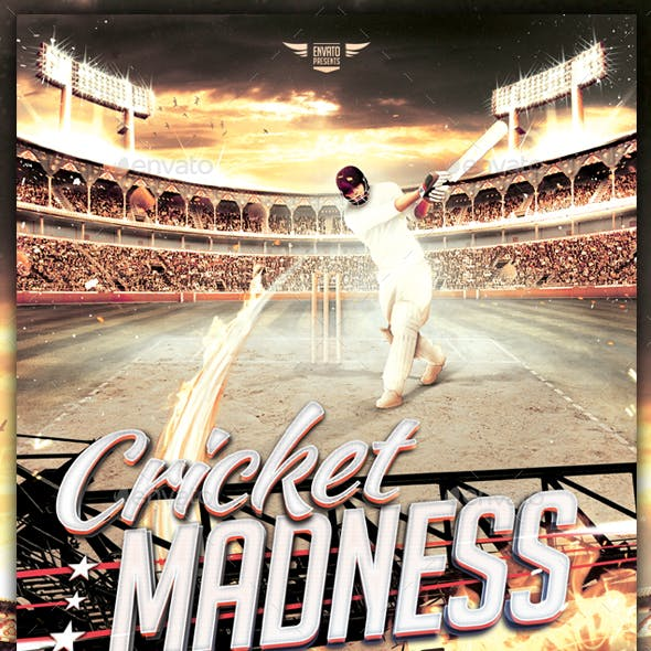 Cricket Madness - Flyer Template