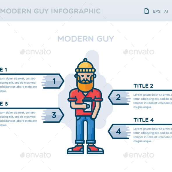 Modern Guy Infographic