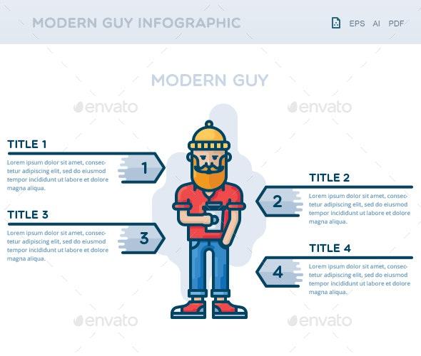 Modern Guy Infographic - Infographics