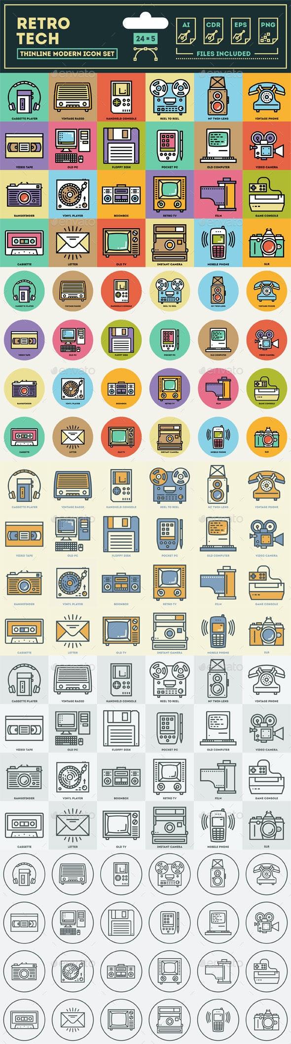 Retro Technology Icon Set
