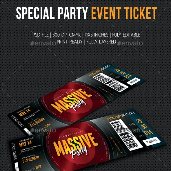 Special Party Event Ticket V11