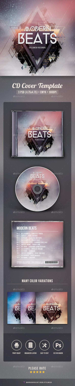 Modern Beats CD Cover Artwork - CD & DVD Artwork Print Templates