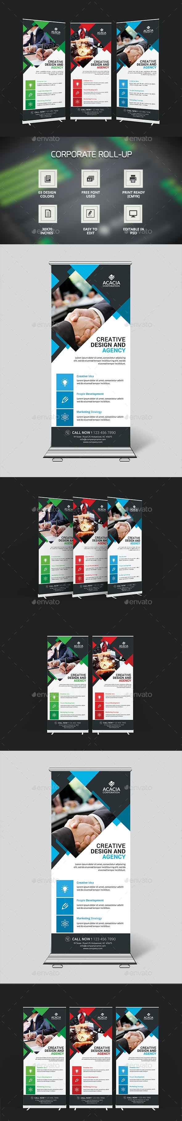 Simple Roll-Up Banners - Signage Print Templates