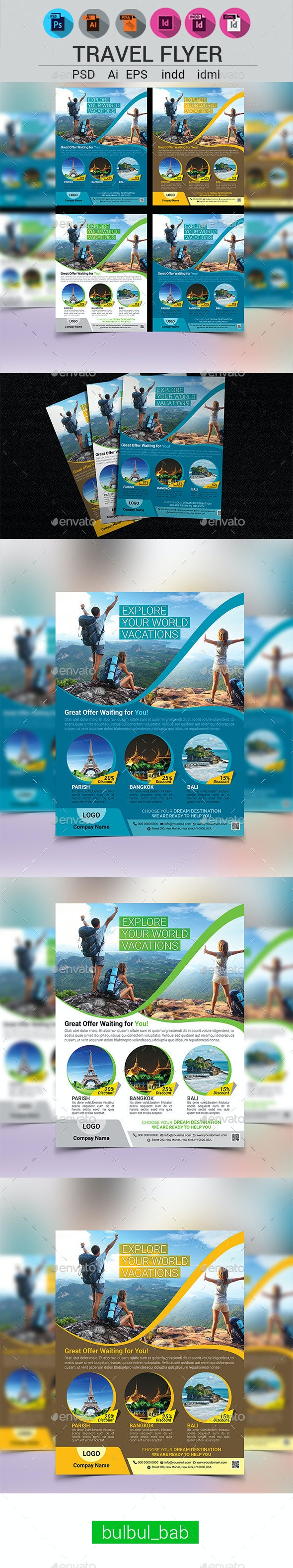 Holiday Travel/Tour Flyer Template - Holidays Events