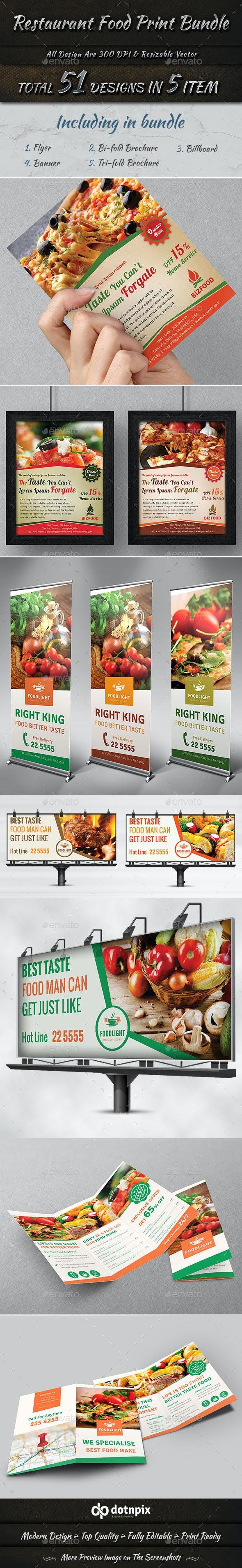 Restaurant Food Print Bundle - Restaurant Flyers