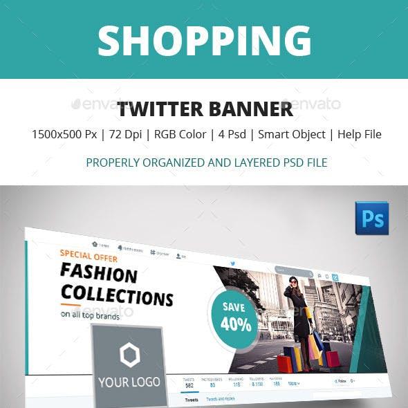Shopping Twitter Banner