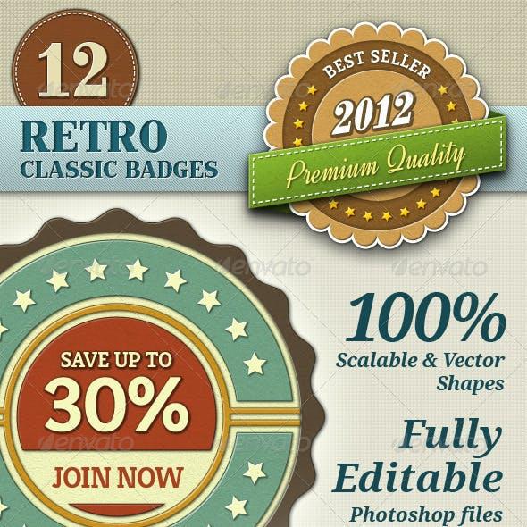 Retro Classic Badges