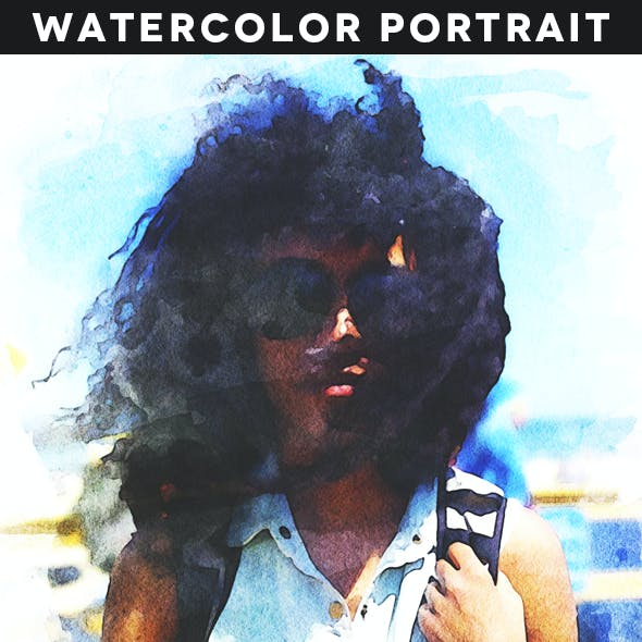 Watercolor Portrait Action