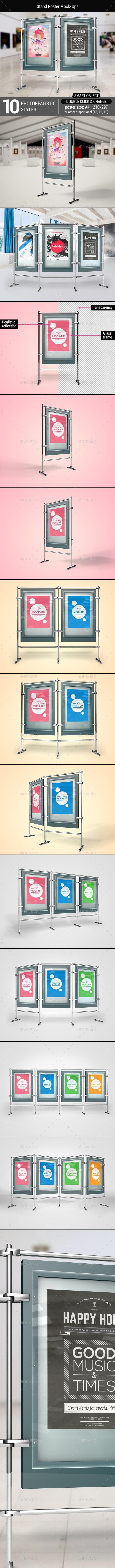 Stand Poster Mock-Ups - Signage Print