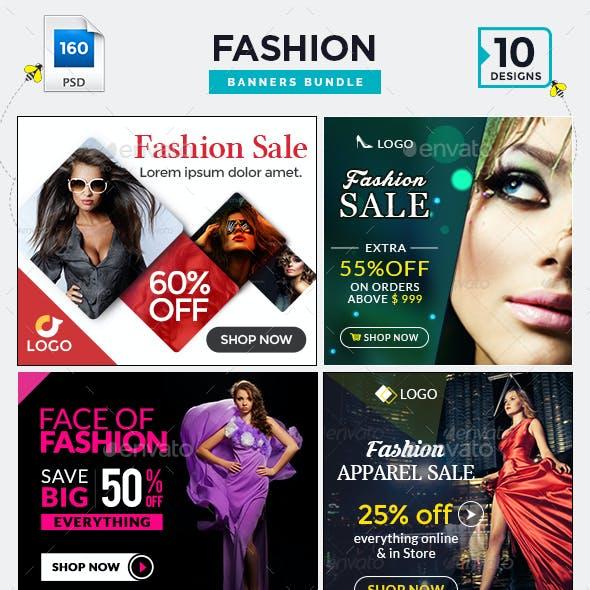 Fashion Sale Banners Bundle - 10 Sets - 160 Banners