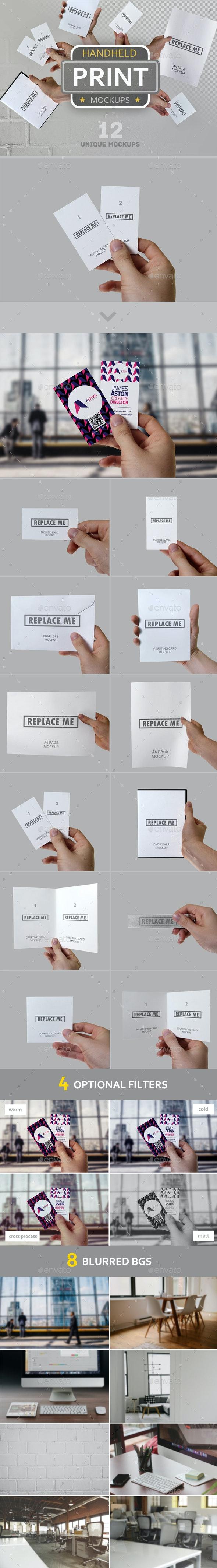 Handheld Print Mockups - Stationery Print