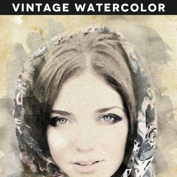 Vintage Watercolor Action Vol. 02