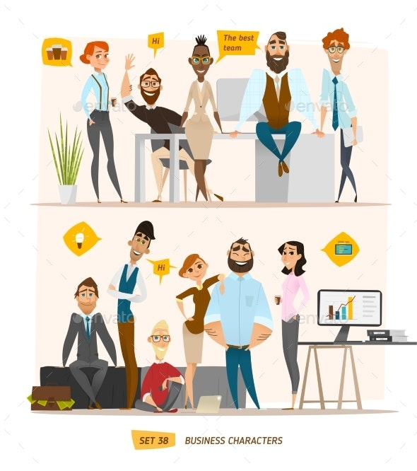 Business Characters Scene - Concepts Business