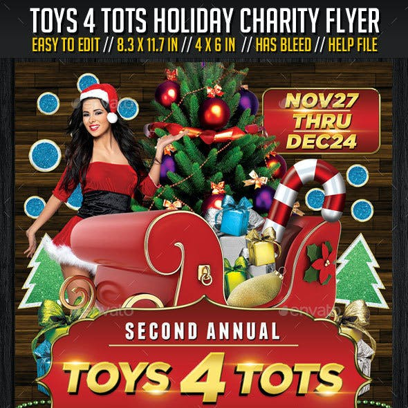 Toys 4 Tots Charity Flyer V01