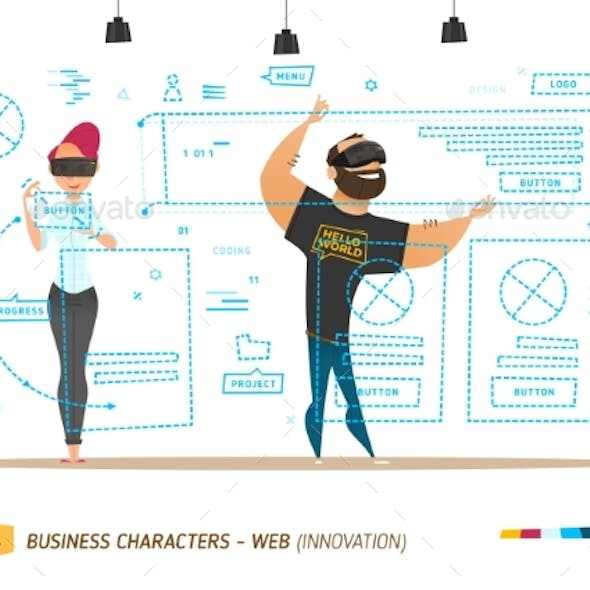 Innovation Business Style. Creating Web Site.