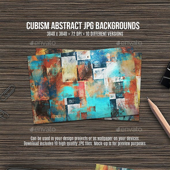 Cubism Abstract Backgrounds