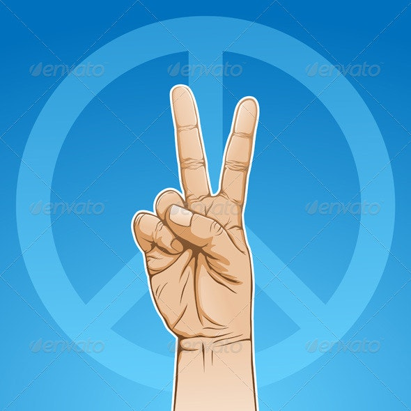 Peace Sign - People Characters