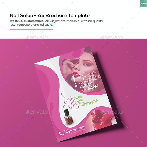 Nail Salon/ A5 Brochure Template