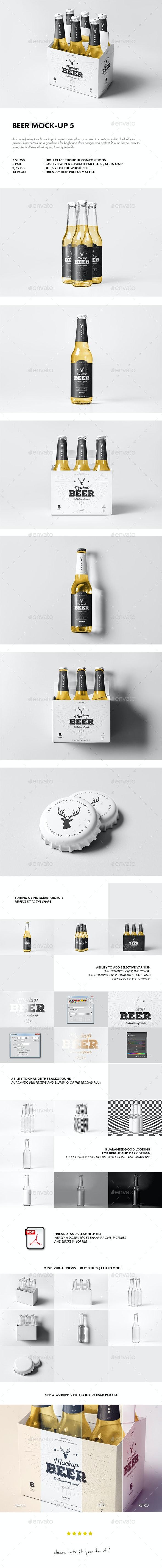 Beer Mock-up 5 - Food and Drink Packaging