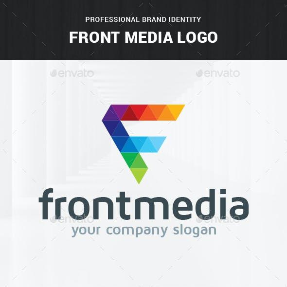 Front Media - Letter F Logo
