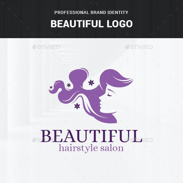 Beautiful - Hair Salon Logo