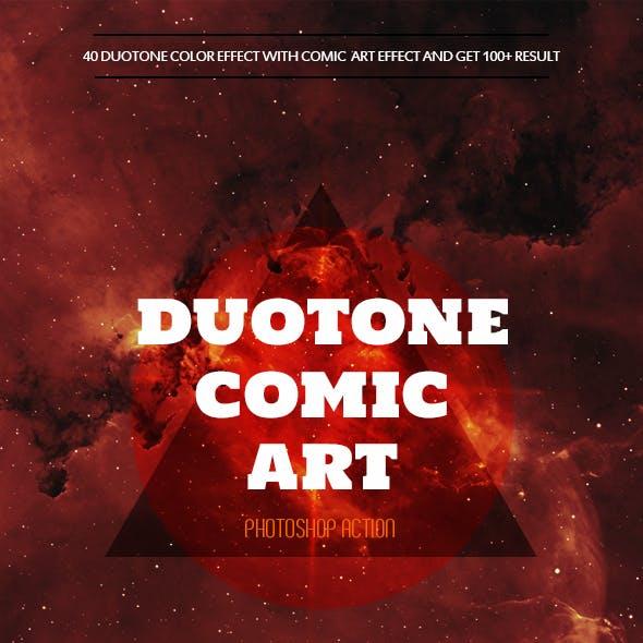Duotone Comic Art